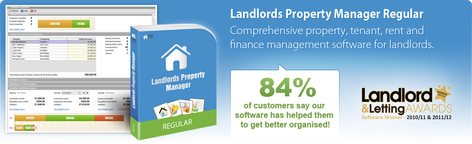 Landlords Property Manager Regular - Comprehensive property, tenant, rent and finance management software for landlords